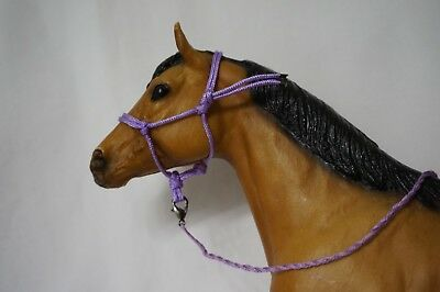 Handmade Breyer Traditional Horse Rope Halter with Lead- Lilac