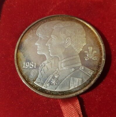 1981 Charles & Diana Royal Wedding Solid Sterling Silver - Tower Mint Medallion
