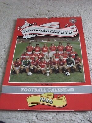 Manchester United Official Club Calendar 1986