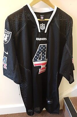 NFL American Football Oakland Raiders Jersey Shirt XL 2XL Derek Carr BNWT Black