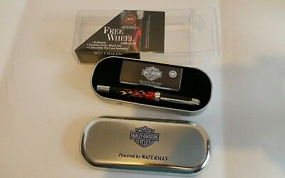 Harley-Davidson Waterman Ball Point Pen Unused ink dried needs refill