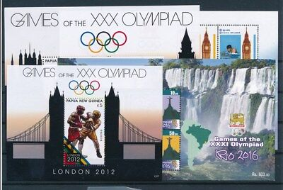 [G96732] Worldwide After Olympics 4 good sheets Very Fine MNH