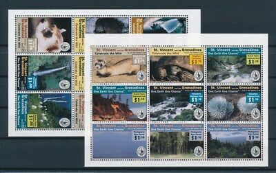 [G96786] St. Vincent & the Grenadines 2 good sheets Very Fine MNH