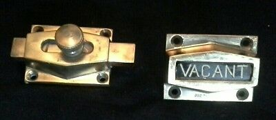 Brass Art Deco 'Vacant / Engaged' Rotating Lavatory Lock