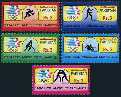 Pakistan Stamps 1984 Los Angeles Olympic Games Hockey MNH