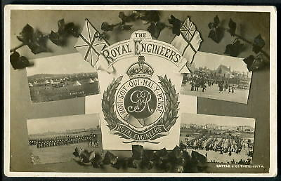 THE ROYAL ENGINEERS, Portsmouth Garrison. J.Welch & Sons multi-view. c1905 RP