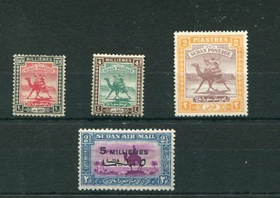 Sudan 4 -- 1938 Mounted Mint Stamps On Stockcard