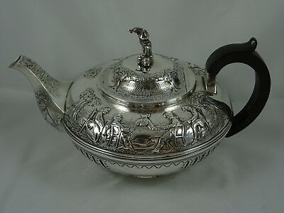 MAGNIFICENT, solid silver TEA POT, 1930, 1085gm - Mappin & Webb