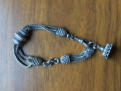 Superb antique Victorian c1890 sterling silver ornate bracelet