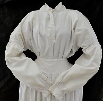 ANTIQUE VICTORIAN 1840s LADIES WHITE BLOUSE/SHIRT WHITEWORK EMBROIDERY