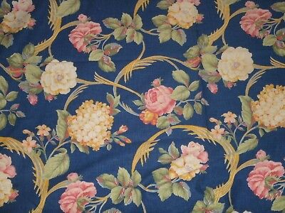 VINTAGE COTTON PRINT FABRIC salvage pc.