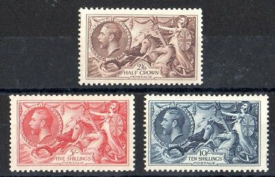 George V 1934 Re-engraved Sea Horse Set of 3, Unmounted Mint