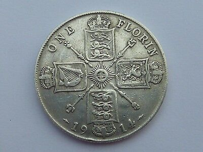George V Two Shillings (Florin) - 1914