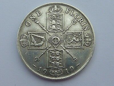 George V Two Shillings (Florin) - 1919