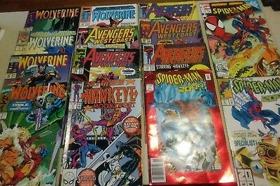Marvel copper age 14 comic lot Wolvernie, Avengers and spiderman