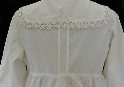 Antique Victorian/edwardian Ladies White Blouse/shirt  With Cutwork