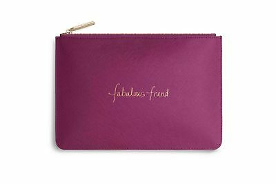 Katie Loxton Perfect Pouch cerise pink - 'FABULOUS FRIEND' with gift bag