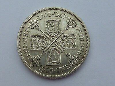 George V Two Shillings (Florin) - 1935