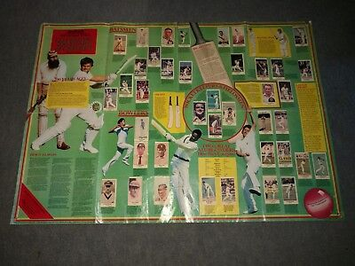 Sunday Times 200 Years Of Cricket Completed Wallchart Grace Hobbs Bradman Sobers