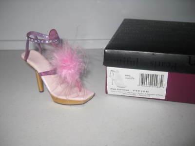 Just the Right Shoe by Raine Pink Flamingo 25568 Complete COA Willitts