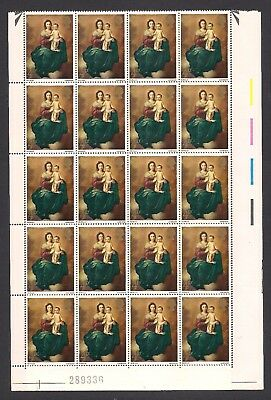 GREAT BRITAIN  1967  Christmas  4d stamps  SG757  1/2 sheet of 60  MNH