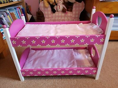 Dolls Wooden Bunk Beds Immaculate Condition