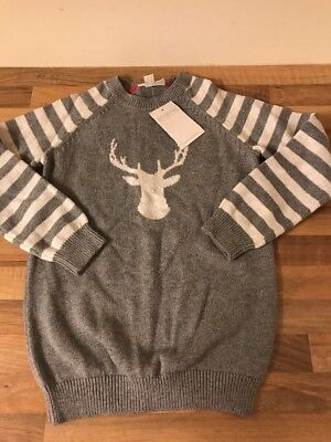 Little White Company Reindeer Jumper Age 7-8