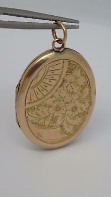 **BEAUTIFUL ANTIQUE WW1 EDWARDIAN 9CT GOLD bACK FRONT PICTURE LOCKET C1910*