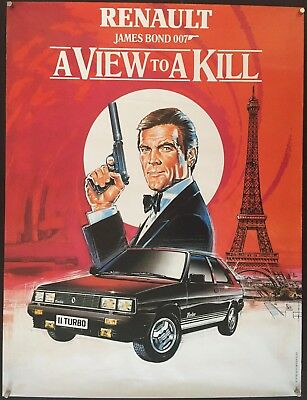 Aview To A Kill Rare Rolled Original 1985 French Promo Poster Bond 007 Moore