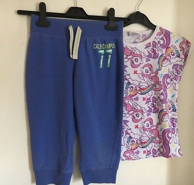 Girls Cropped Tracksuit Trousers & My Little Pony T-shirt Age 7-8 Years - NEXT