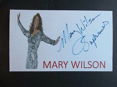 """Mary Wilson """"The Supremes"""" Autographed 3x5 Index Card"""