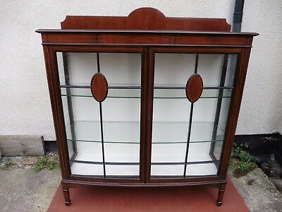 Antique Edwardian Inlaid Mahogany Display Cabinet, Curio Cabinet, Circa 1900/10