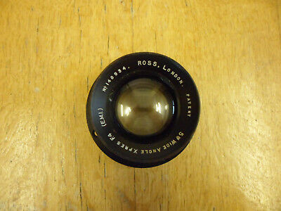 """Vintage Ross 5"""" Xpres wide angle F4 plate camera lens."""