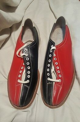 Vintage NOS Gold Cup Men's Size 10 Red Black Bowling House Shoes
