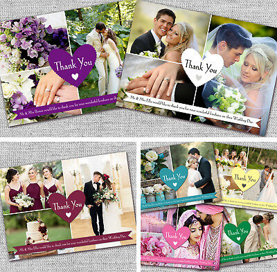 Personalised Wedding Thank You Notecards