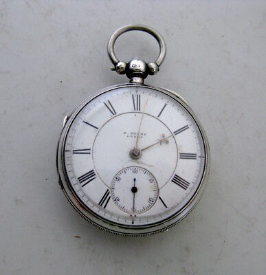 Victorian Solid Silver Pocket Watch - Chester 1895 - H Stone, Leeds