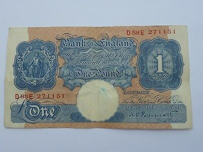 Bank Of England One Pound Note (£1) - Peppiatt