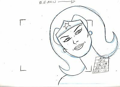 # HANNA-BARBERA SUPER FRIENDS / DARRELL McNEIL HAND DRAWN ORIGINAL PENCIL DC ART