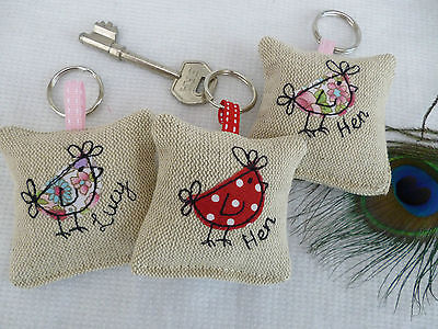 Handmade Lavender Keyring Choice of colour & Personalisation Bridesmaid Hen Gift