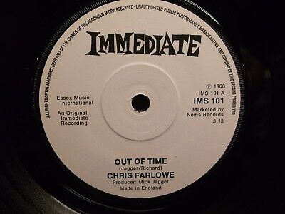 "Chris Farlowe - Out Of Time 7""  -  EX!"