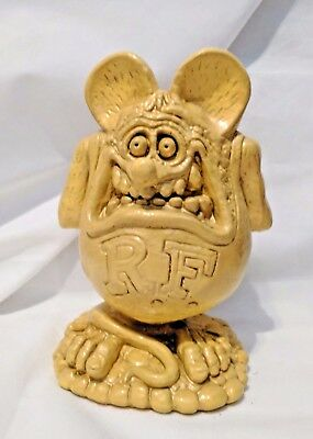 "Lrg Big Daddy Roth Rat Fink Solid Plaster Figurine Sculpture ~ ""i Love You Baby"""