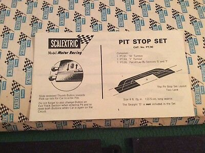 Vintage Scalextric Pit Stop Set. Catalogue number PT90 original box and instruct