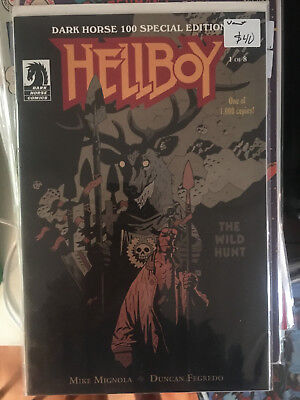 HELLBOY THE WILD HUNT #1 VF/NM 1st Print MIKE MIGNOLA VARIANT Limited to 1000