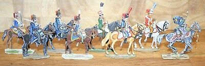 Napoleonic Wars Lead/Tin Flat Soldiers - Mixed French Hussars (2)