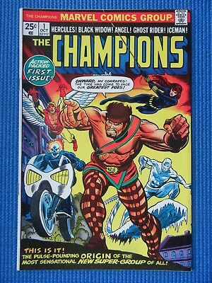 The Champions # 1 - (Vf/nm) - 1St Issue-Ghost Rider,iceman,hercules, Black Widow