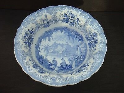 Victorian South Wales Pottery Toilet Bowl Panorama Pattern Swansea Llanelli