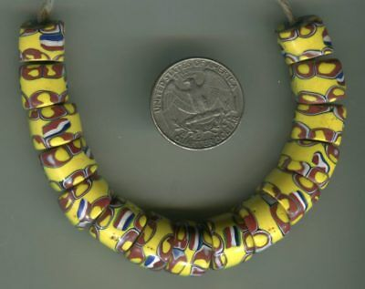 African Trade beads Vintage Venetian old glass beads nice matched millefiori