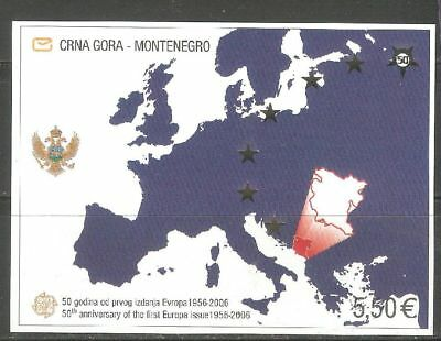Montenegro, nice sheet, depicting the 50th anniv. of EUROPA stamps in 2006