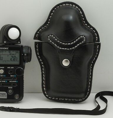 Filmtools professional leather light meter case for Sekonic L758 and L558 meters