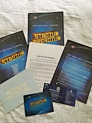 Red Hot Chili Peppers Stadium Arcadium Promo Set Top Of The Pops Tickets RARE